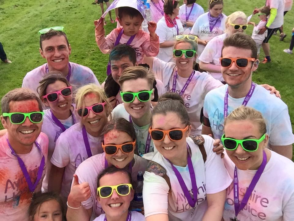 Colour Dash for the Ayrshire Hospice