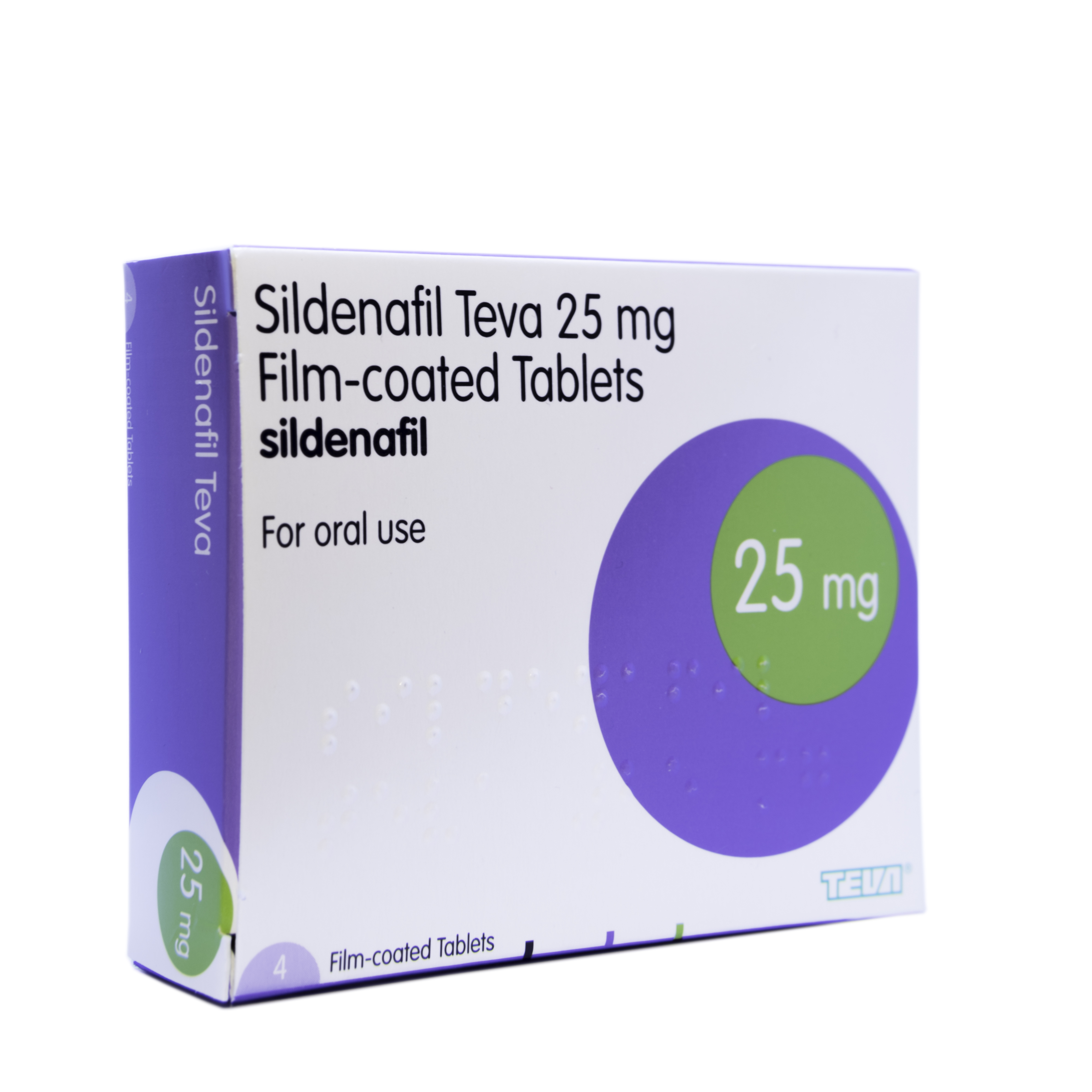 Sildenafil 25mg - 4 tablets