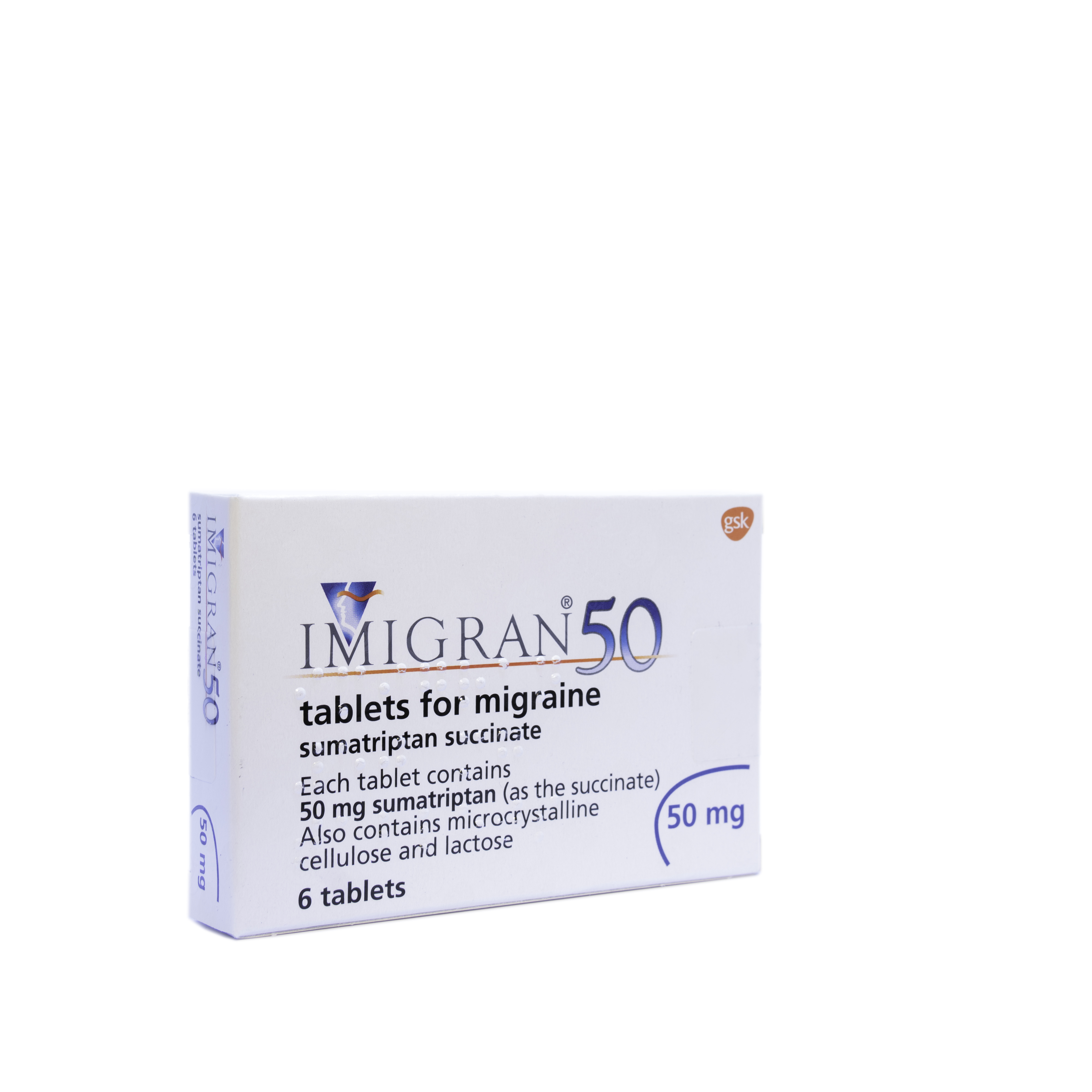 Imigran 50mg - 6 Tablets