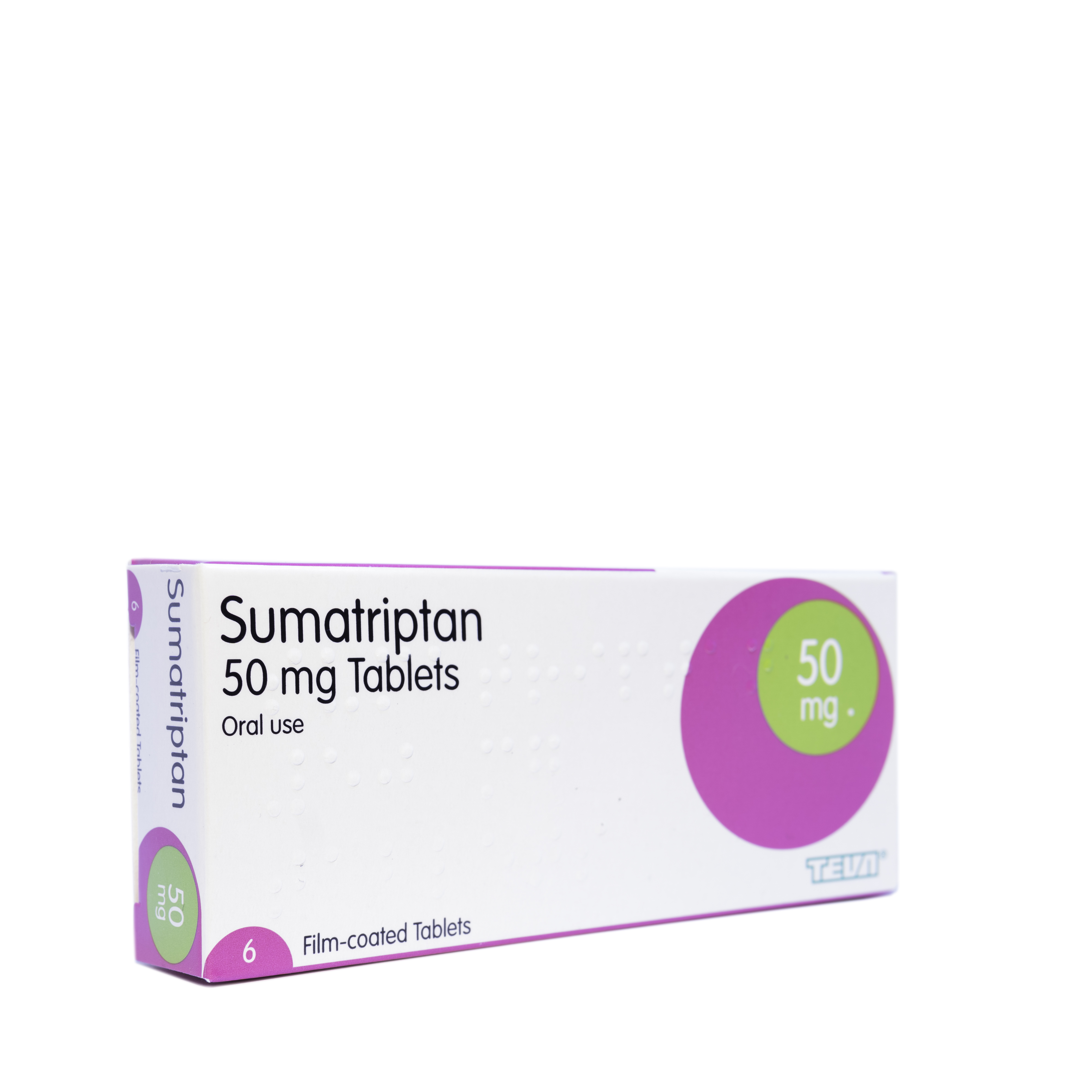 Sumatriptan 50mg - 6 Tablets